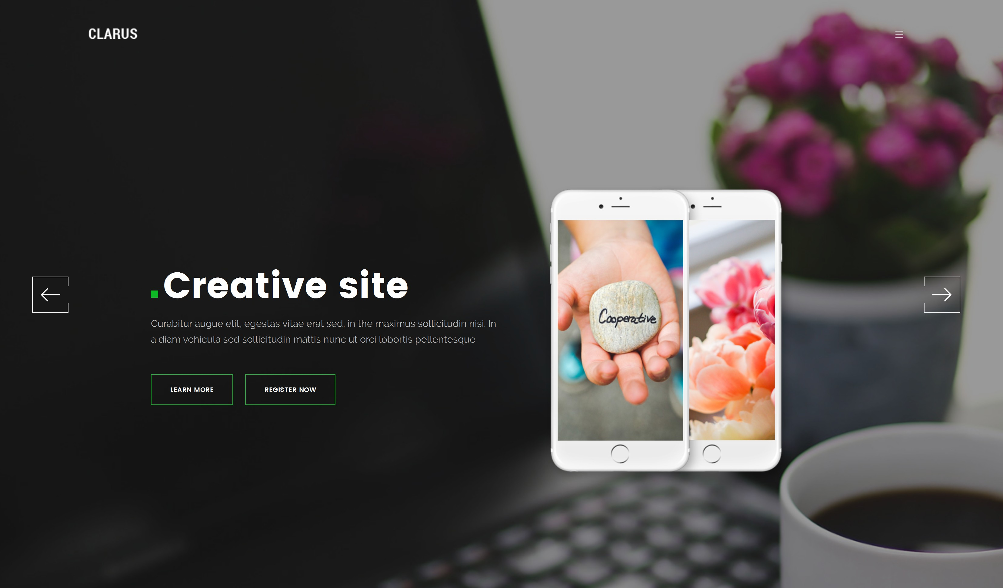 HTML Bootstrap App Theme
