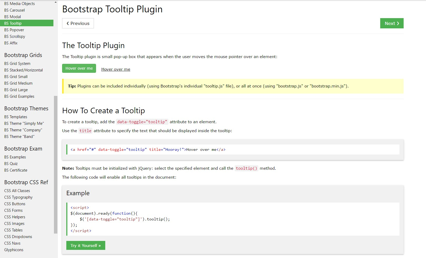 Bootstrap Tooltips  article