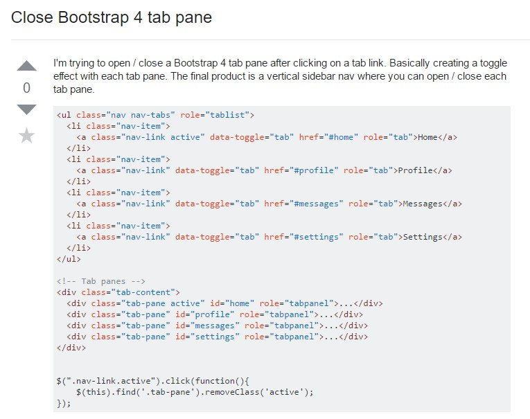 Ways to close Bootstrap 4 tab pane
