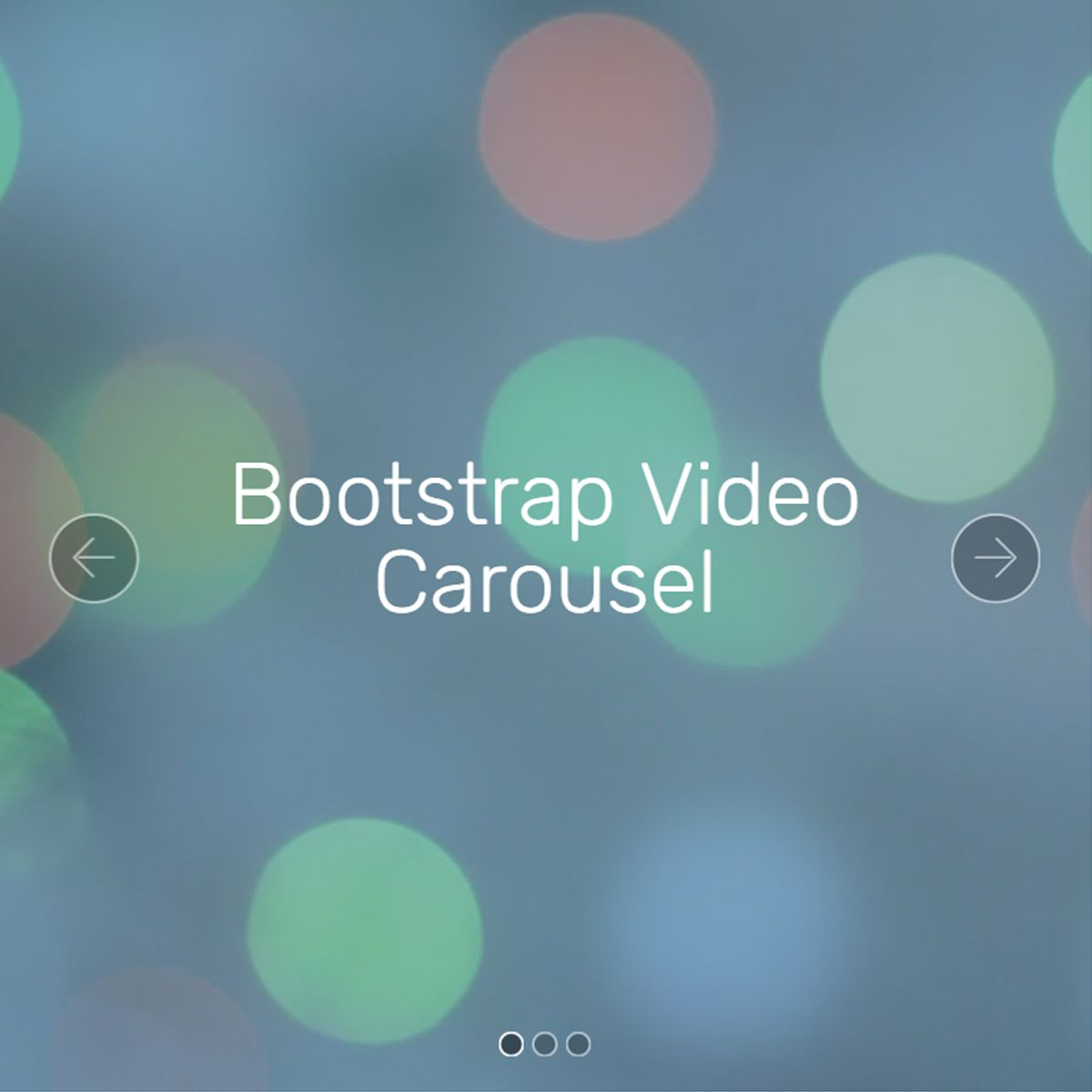 Mobile Bootstrap Picture Slideshow