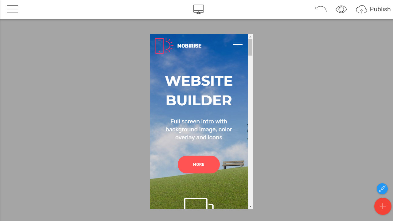 Drag and Drop Web Page Builder